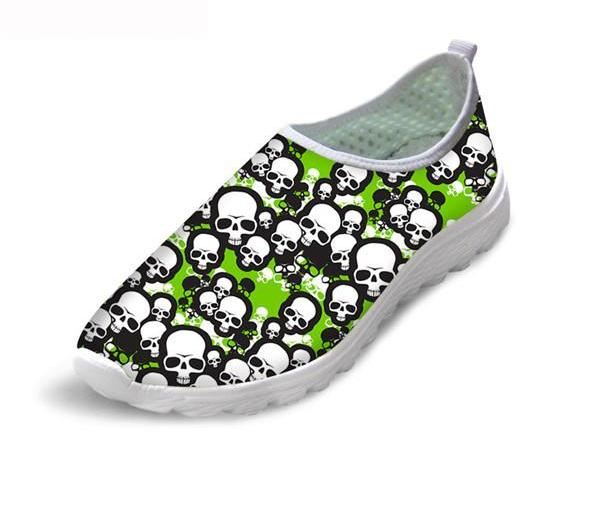 Black Skull Couple Shoes