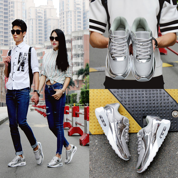 Metallic Color Couple Shoes