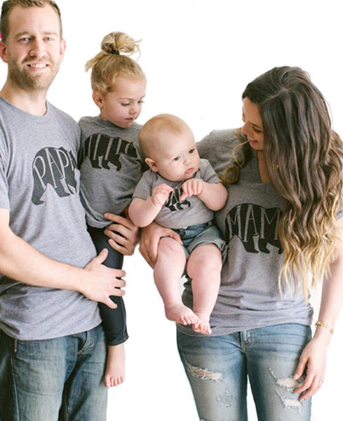 Bear Animal Family Matching Shirts