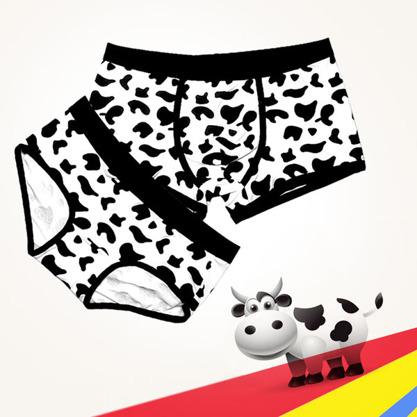 Cow Pattern Couple Underwear