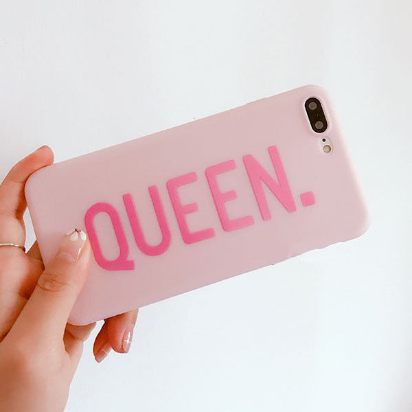 QUEEN & BOSS Couples Phone Case