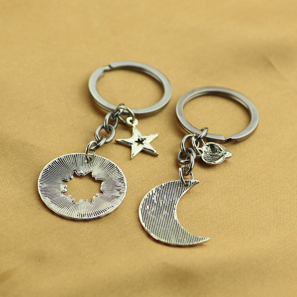 """Moon of My Life, My Sun and Stars"" Couple keychain"
