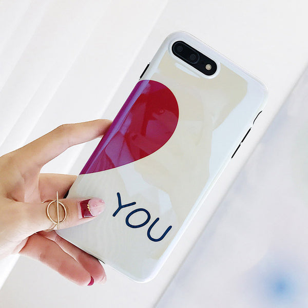 I Heart You Couple Phone Case