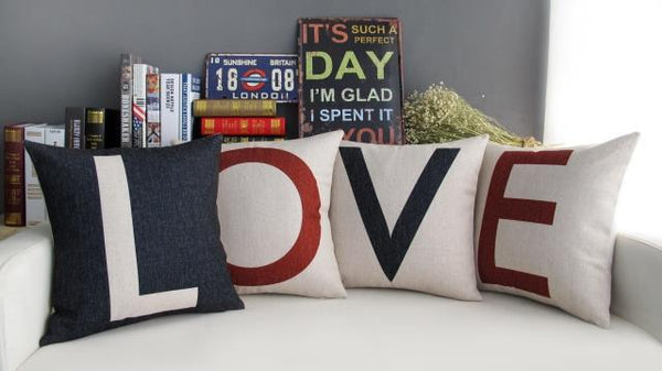 LOVE Couple Pillow Case