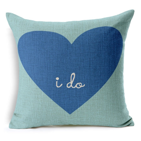 Creative Lover Pattern Couple Pillow Case