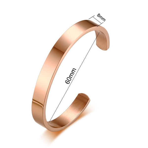 Free Engraving Personalized Couple Cuff Bracelets