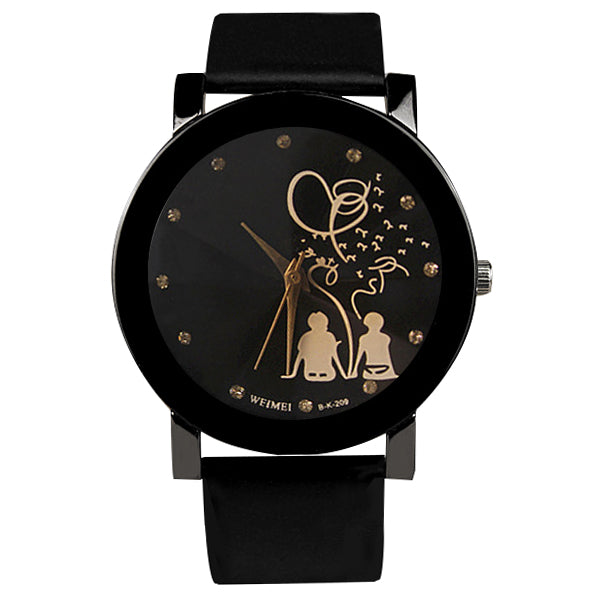 Lovers Heart Leather Couple Watch
