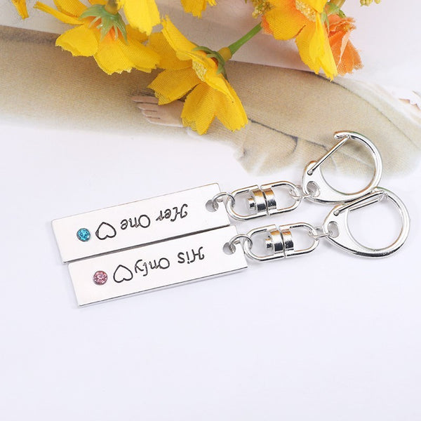 Her One His Only Couple Keychain