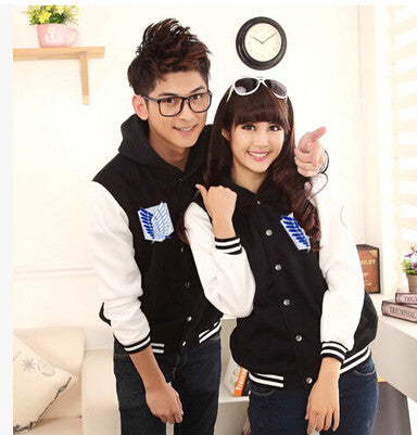 Couple Shirt hoodies Attack On Titan cosplay Jacket Casual coat tracksuits basketball - CoupleStuffs.com - Couple's Super Shop for Stuffs!