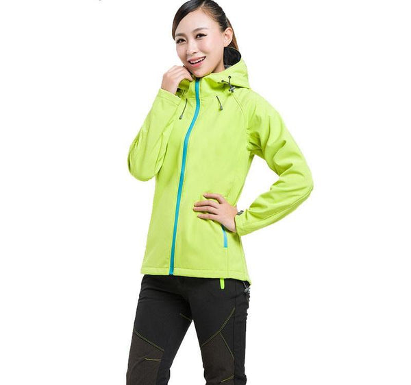 Facecozy Women&Men Spring Autumn Outdoor Hooded Camping&Hiking Softshell Jacket Couples Windproof Climbing&Travelling Clothes - CoupleStuffs.com - Couple's Super Shop for Stuffs!