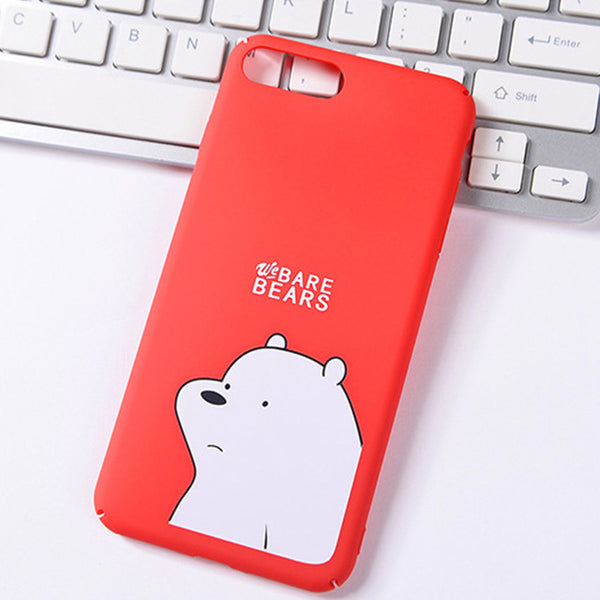 Red Bare Bears Couples Phone Case