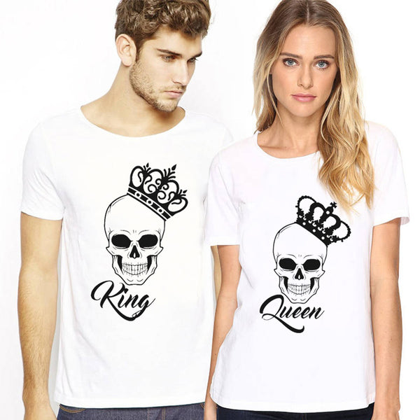 Skull King & Queen Couple Shirts