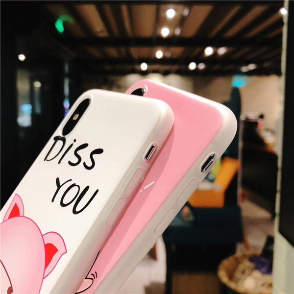 Oh No! Diss You Cute Pig Couple Phone Case