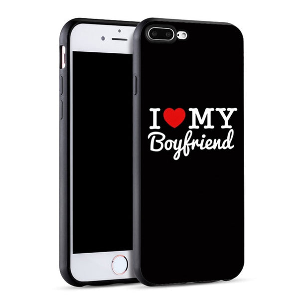 I Love My Boyfriend Girlfriend Couple Phone Case