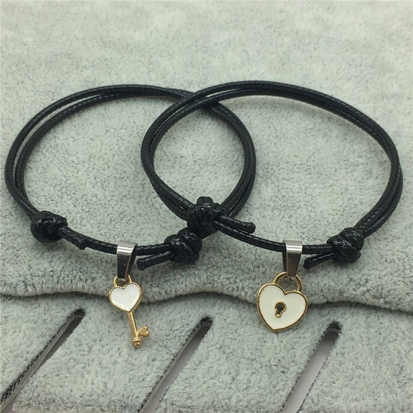 Heart Lock Couple Bracelet