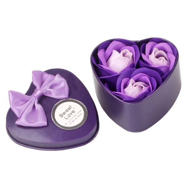 3pcs Heart Scented Rose Soap