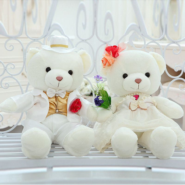 Couple Stuff Toys very beautiful wedding dress teddy bear plush toy couples love bear doll wedding gift proposal gift birthday gift w5279 - CoupleStuffs.com - Couple's Super Shop for Stuffs!