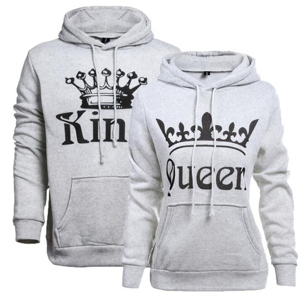 KING QUEEN Crown Couple Sweatshirt
