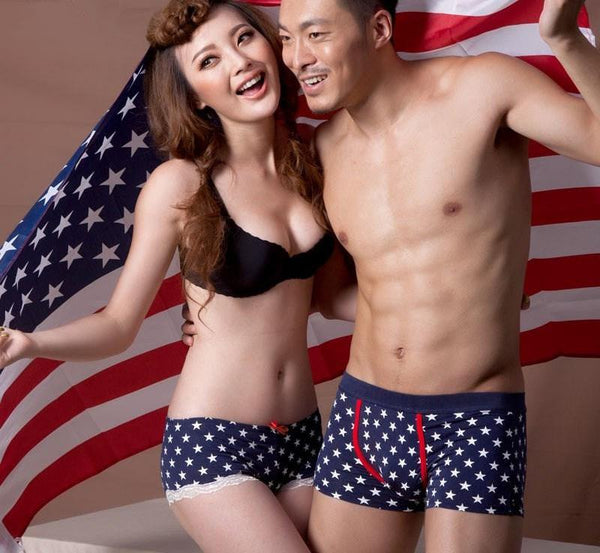 Stars and Stripes Couple Underwear