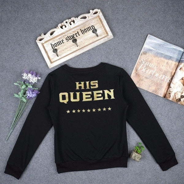 The King His Queen Couple Sweater