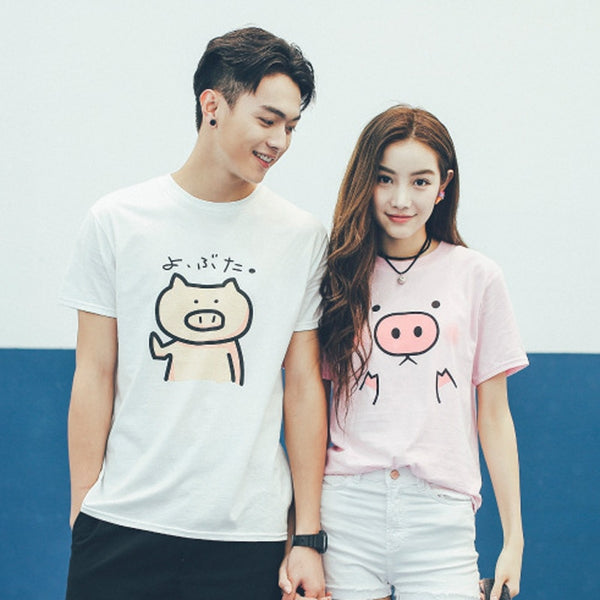 Cute Pigs Couple Shirts