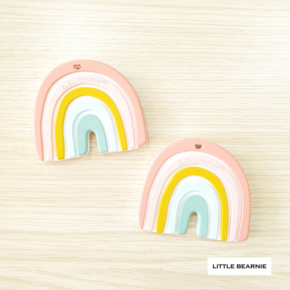 Modern Baby Teether - Pastel Rainbow