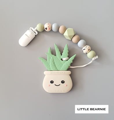 Modern Baby Teether Clip Set - Hello Aloe! (Lint)