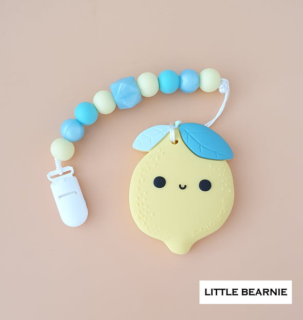 Modern Baby Teether Clip Set - Cute Cute Lemon