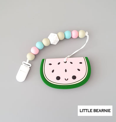 Modern Baby Teether Clip Set - Cute Cute Watermelon