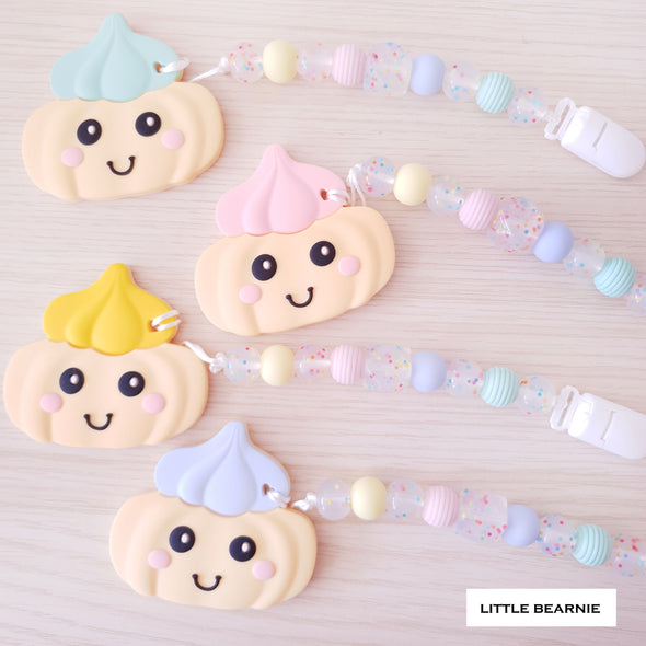 Modern Baby Teether Clip Set - Gem Biscuit (Rainbow Theme Clip)