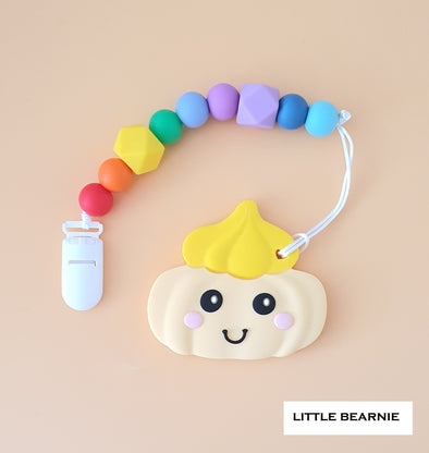 Modern Baby Teether Clip Set - Gem Biscuit (Yellow)