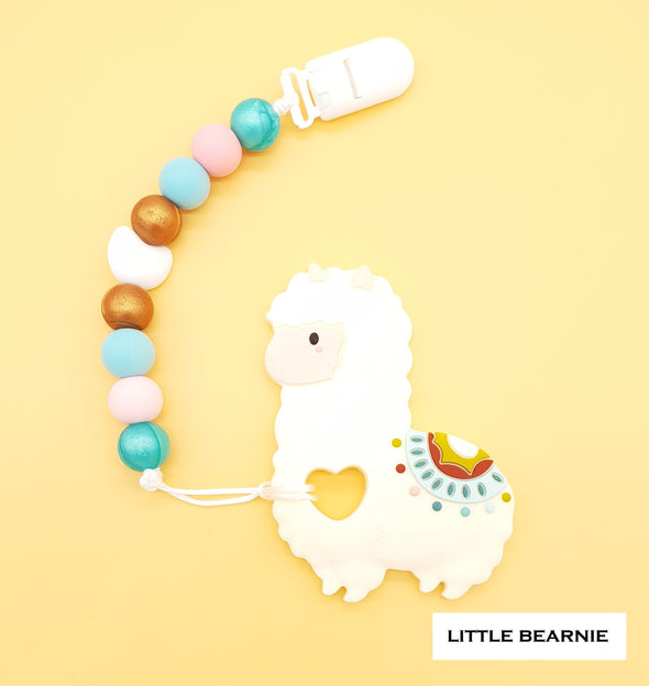Baby Teether Clip Set (Premium Range) - Lovely Llama