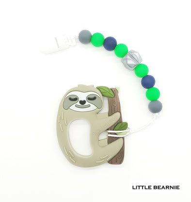 Modern Baby Teether Clip Set - Sleepy Sloth