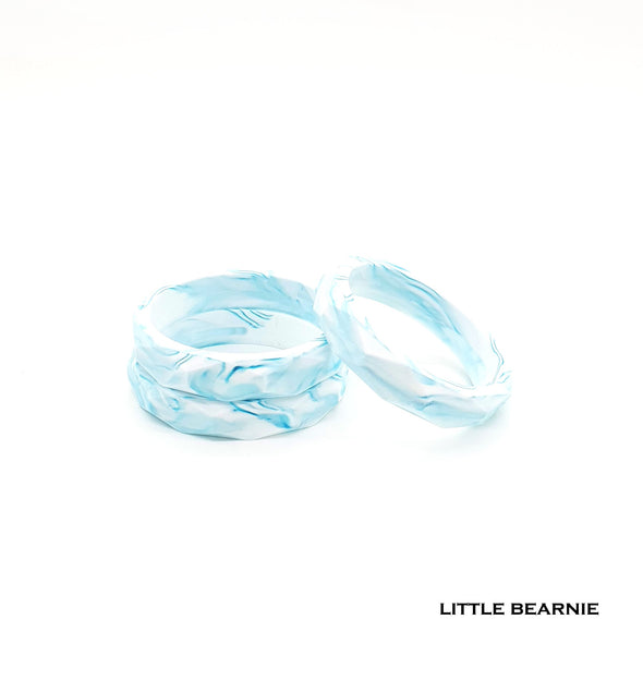 Stylish Teething Bangle - Marble Designed (Teal)