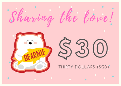 $30 BEARNIE-Gift Card