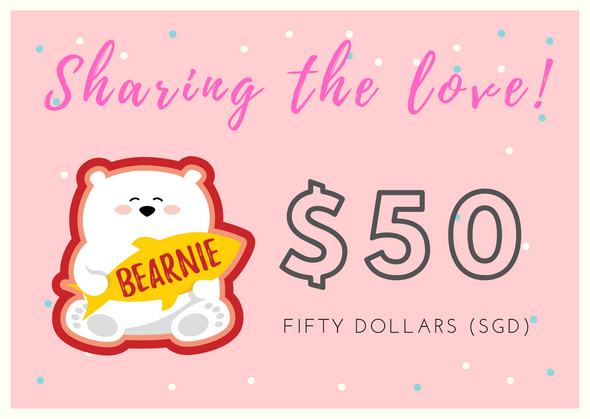 $50 BEARNIE-Gift Card