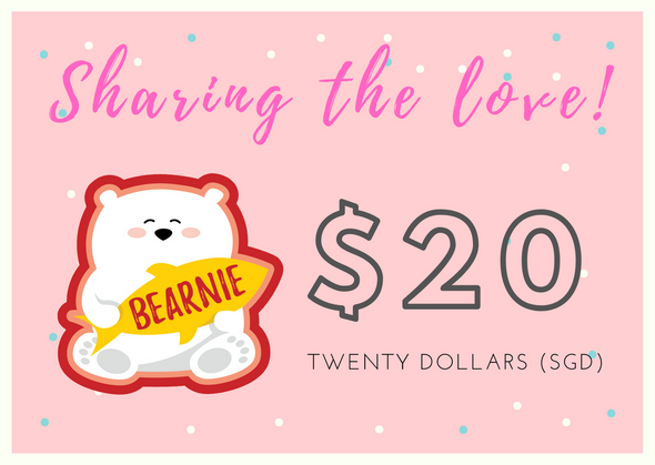 $20 BEARNIE-Gift Card