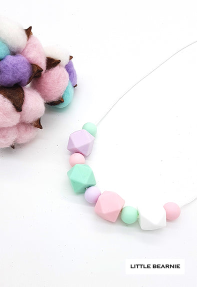 Handmade Beads Necklace  - Love for Pastels