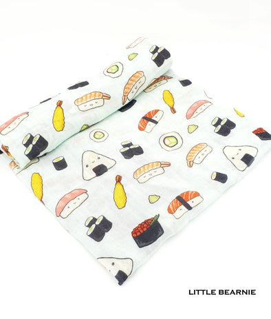 Swaddle / Baby Blanket - Sushi Love Design