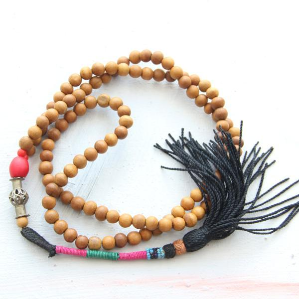 Prancing Leopard mala necklace
