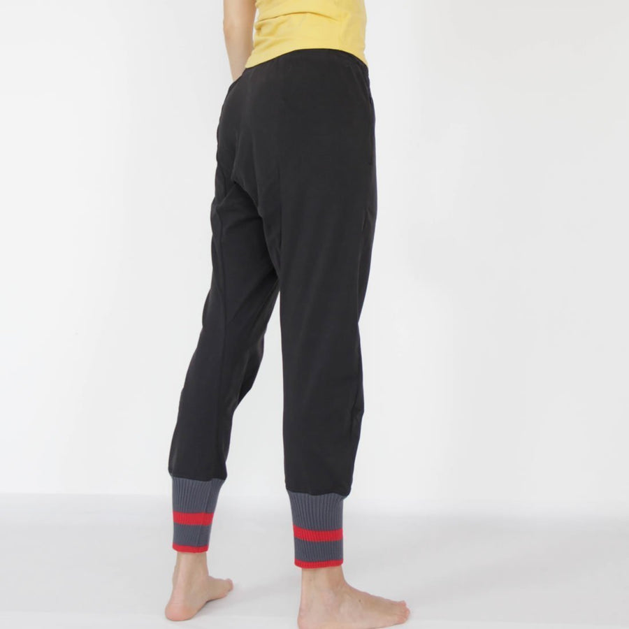 Khandut Organic Cotton Knit Cuff Yoga Pants by Prancing Leopard
