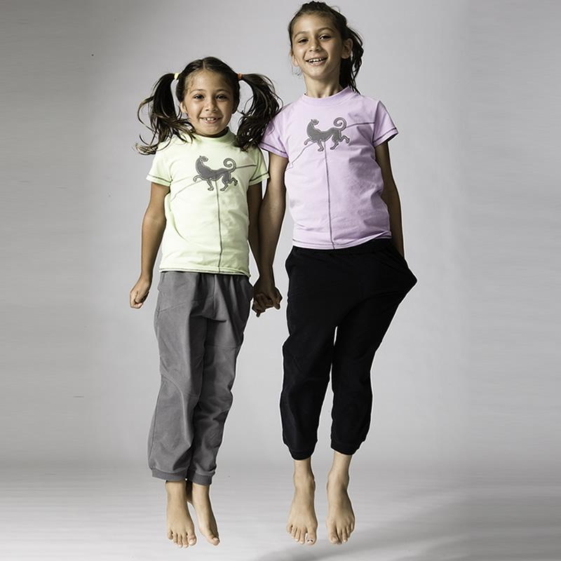 Prancing Leopard KID's Organic Cotton Yoga pants