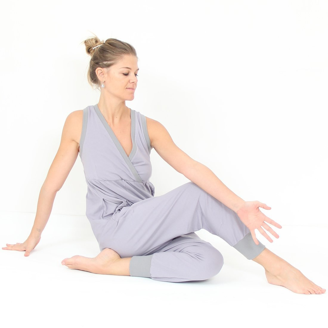 1acc5088e818 Prancing Leopard Toulouse II Euro-Style Super Jumpsuit in organic Zeugma®  cotton - Silver