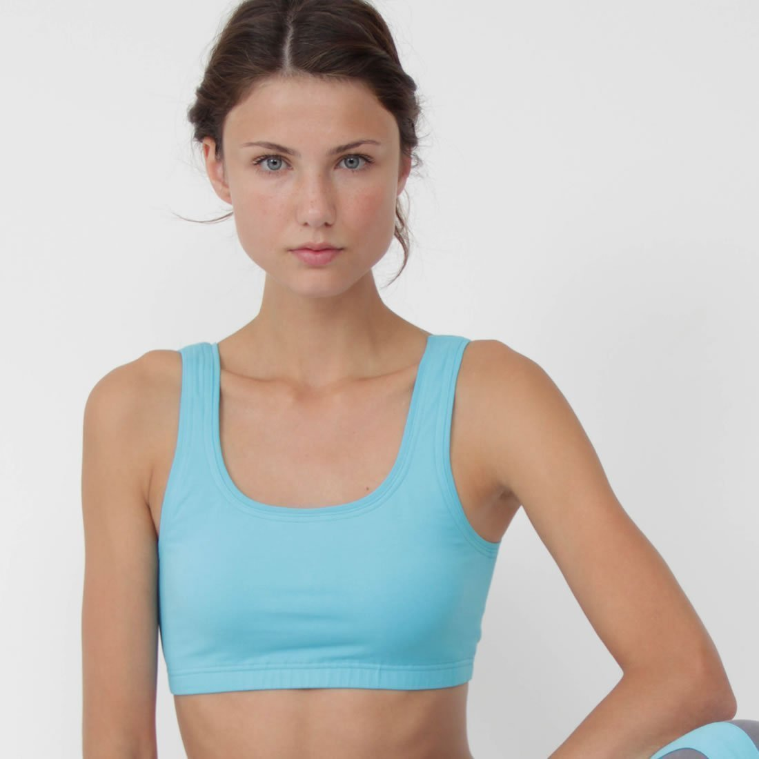 634d4fe42 Figuera Organic Cotton Yoga Sports Bra Turquoise by Prancing Leopard