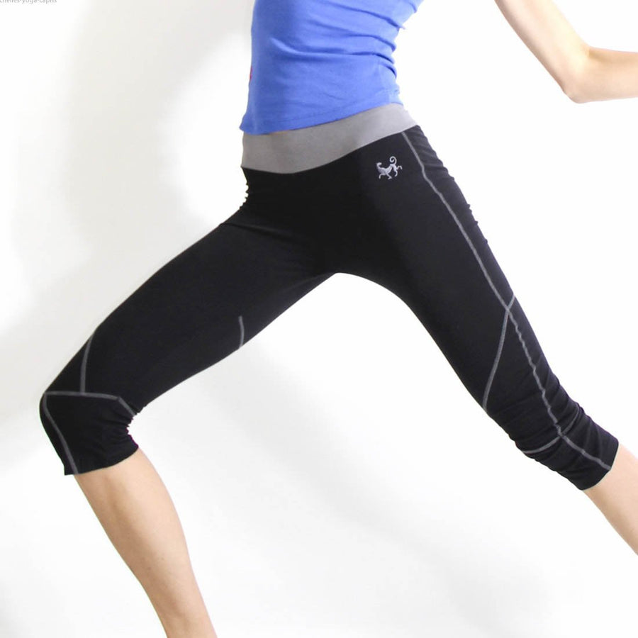 PRE-Order Seychelles Organic Yoga Capris Pants in moisture-wicking Zeugma® cotton