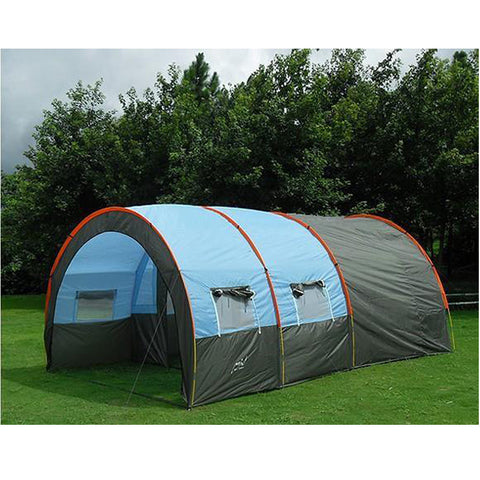 Large Camping tent Waterproof Canvas Fiberglass 5-8 People Family Tunnel 10 Person Tents equipment outdoor mountaineering Party