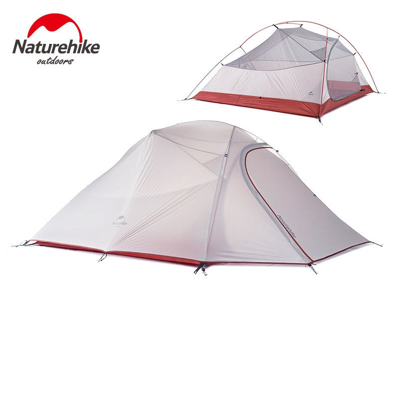 1.8KG Naturehike Tent 3 Person 20D Silicone Fabric Double layer Rainproof Camping Tent NH Outdoor Tent 4Season