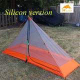 3F pedestiran silicon coating inner tent ultra light high quality summer outdoor camping  tent