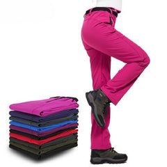 Women Winter Inside Fleece Pants Outdoor Sports Waterproof Brand Clothing Hiking Camping Trekking Skiing Female Throusers VB015