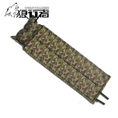 Camouflage Folded Air Mattress Camping Equipment Beach Mat Inflatable Pillow Sleeping Pad Bag Bed Roll Outdoor